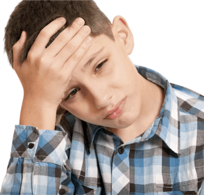 Headaches in children at the age of 10