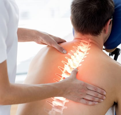 Recovering of a person with an intervertebral disc herniation